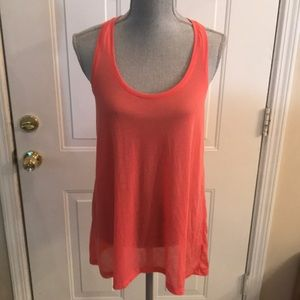 Basic by H&M Womens Coral Color Long Tank Top